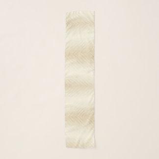 金ゴールドの効果のグラデーションなラインは白い贅沢で縞で飾ります スカーフ