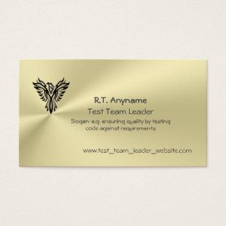 金ゴールドの効果のフェニックスのロゴのチームリーダーをテストして下さい 名刺