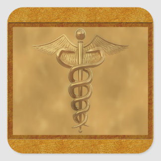 金ゴールドの医学のケリュケイオン スクエアシール