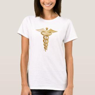 金ゴールドの医学のケリュケイオン Tシャツ