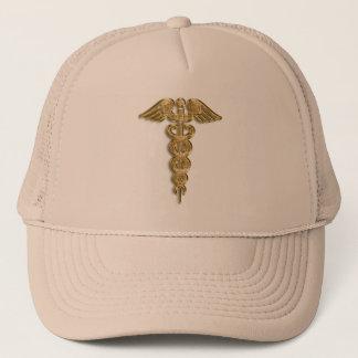 金ゴールドの医学の注意深いバッジ キャップ