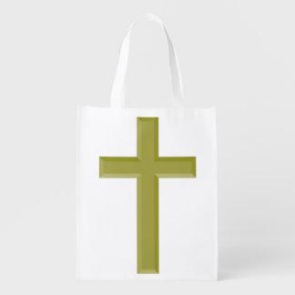 金ゴールドの十字 エコバッグ