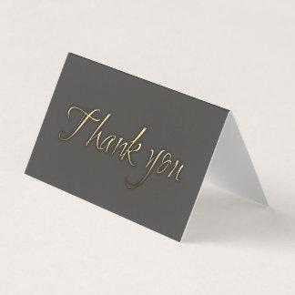 金ゴールドの原稿の書道は灰色感謝していしています 名刺