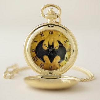 金ゴールドの壊中時計のエリーのこうもり ポケットウォッチ