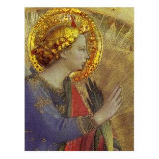 金ゴールドの天使 ポストカード