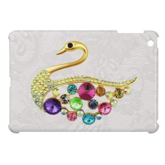 金ゴールドの孔雀の宝石のプリントのペイズリーのレースiPad Mini iPad Mini カバー