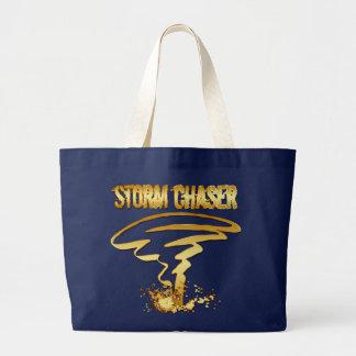 金ゴールドの嵐のチェーサー ラージトートバッグ