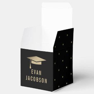金ゴールドの帽子編集可能色の卒業パーティーの好意箱