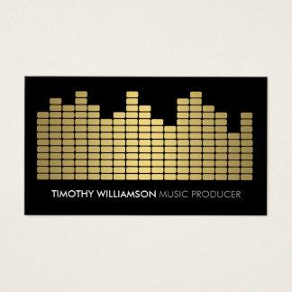 金ゴールドの平衡装置のミュージシャン、DJのバンド名刺 名刺