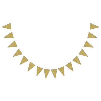 金ゴールドの幸せな記念日 バンティングフラッグ