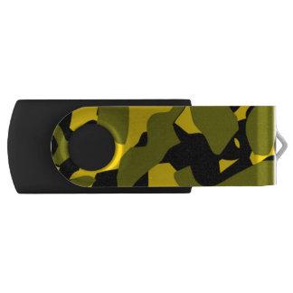 金ゴールドの影の迷彩柄のフラッシュドライブ USBフラッシュドライブ