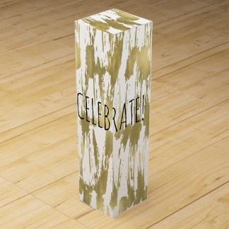 金ゴールドの抽象芸術は祝います ワインギフトボックス
