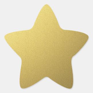金ゴールドの星のシールおよびステッカー 星シール