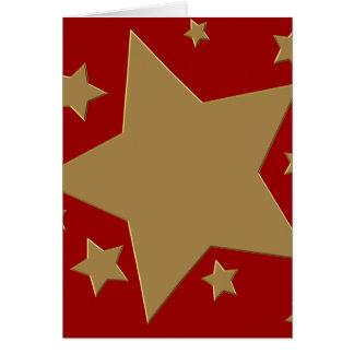 金ゴールドの星のスタイルIII カード