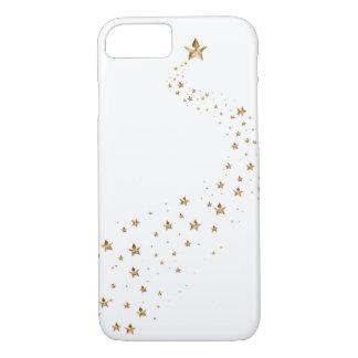 金ゴールドの星の願いの流星 iPhone 8/7ケース