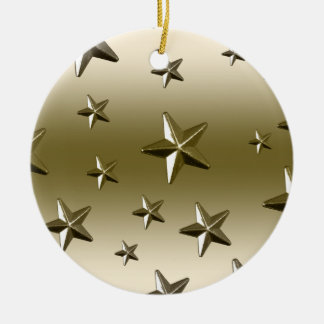 金ゴールドの星パターン星明かりの輝きの金属の効果 セラミックオーナメント