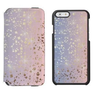 金ゴールドの星ホイルの輝きのローズクォーツの平静の青 INCIPIO WATSON™ iPhone 5 財布型ケース