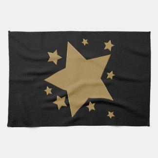 金ゴールドの星 キッチンタオル