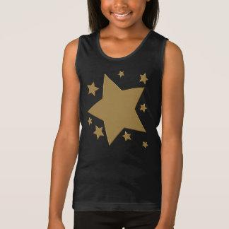 金ゴールドの星 タンクトップ