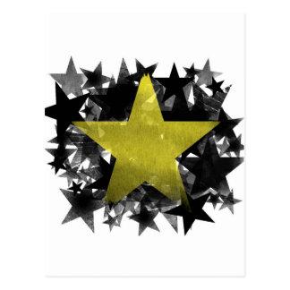 金ゴールドの星 ポストカード