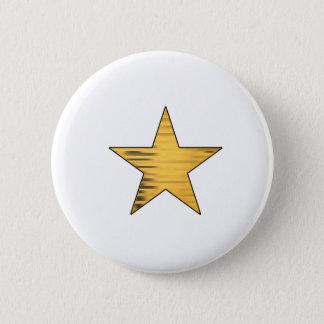 金ゴールドの星 缶バッジ