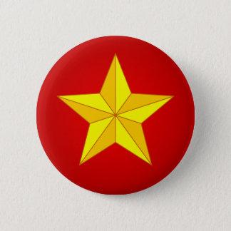 金ゴールドの星 5.7CM 丸型バッジ