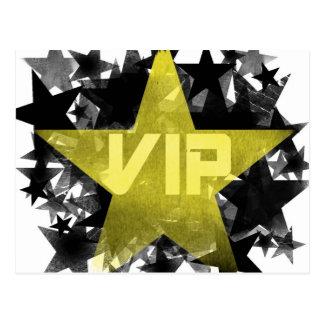 金ゴールドの星VIP ポストカード