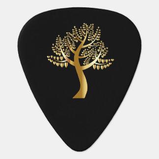 金ゴールドの木の金ゴールドの恋人のハート ギターピック