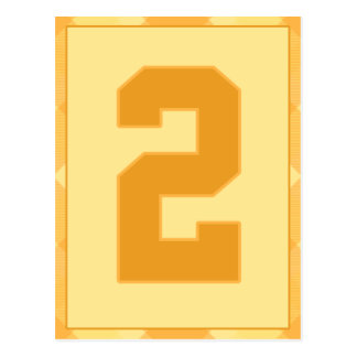 金ゴールドの格子縞の第2タイポグラフィの旗カード ポストカード