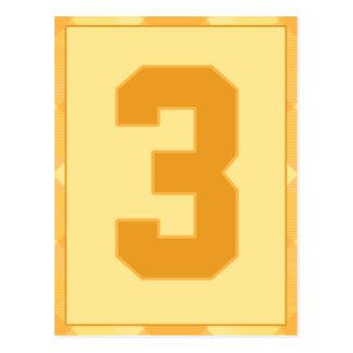 金ゴールドの格子縞の第3タイポグラフィの旗カード ポストカード