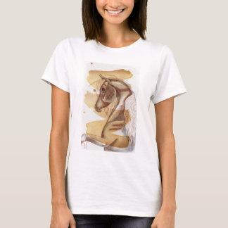 金ゴールドの水彩画の洗浄のPalominoの馬 Tシャツ
