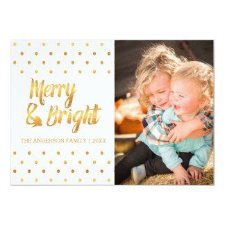 金ゴールドの水玉模様のクリスマスカード カード