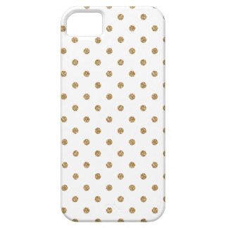 金ゴールドの水玉模様のIphone 5の場合 iPhone SE/5/5s ケース