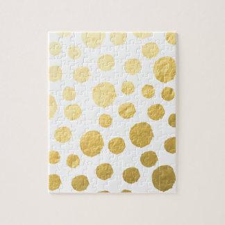 金ゴールドの水玉模様 ジグソーパズル