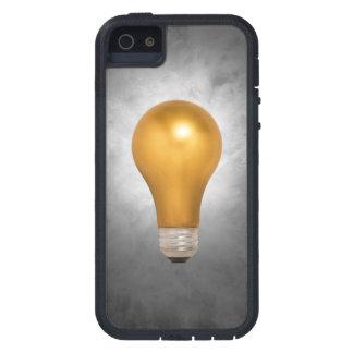 金ゴールドの浮遊電球のiPhone 5/5Sの場合 iPhone SE/5/5s ケース