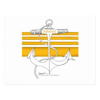 金ゴールドの海軍大将、贅沢なfernandes ポストカード
