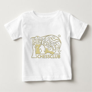 金ゴールドの渦巻のワイシャツ ベビーTシャツ