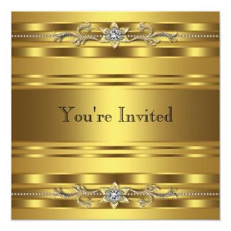 金ゴールドの準正装のパーティーのCorprateビジネスイベント カード