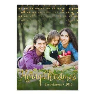 金ゴールドの点のエレガントなクリスマスカードのデザイン(2つの側面) カード