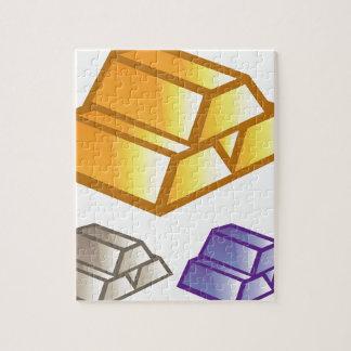 金ゴールドの煉瓦ベクトル ジグソーパズル