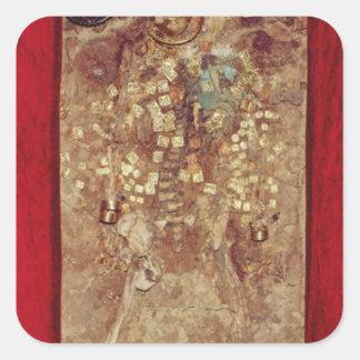 金ゴールドの王冠および墓の商品を持つミイラ スクエアシール