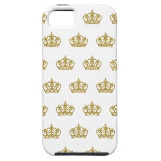 金ゴールドの王冠パターンApple Iphoneの例 iPhone SE/5/5s ケース
