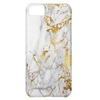 金ゴールドの白い大理石に都市に向くこと iPhone5Cケース