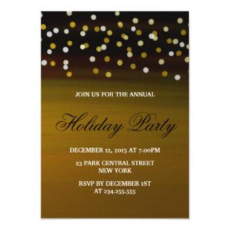 金ゴールドの白い紙吹雪のモダンなオフィスの休日のパーティ カード
