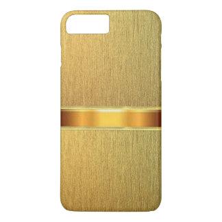 金ゴールドの皮の質のiPhone 7の場合 iPhone 8 Plus/7 Plusケース