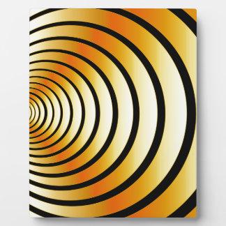 金ゴールドの目の錯覚 フォトプラーク