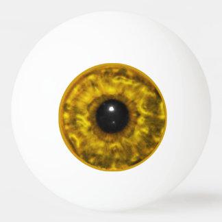 金ゴールドの眼球 卓球ボール