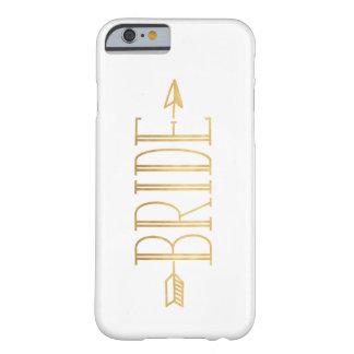 金ゴールドの矢のBohoの花嫁の電話箱 Barely There iPhone 6 ケース