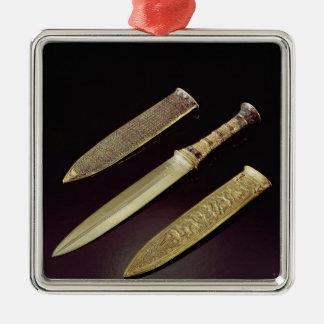 金ゴールドの短剣および外装 メタルオーナメント