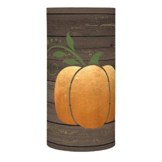金ゴールドの秋の素朴な木製のカボチャ LEDキャンドル